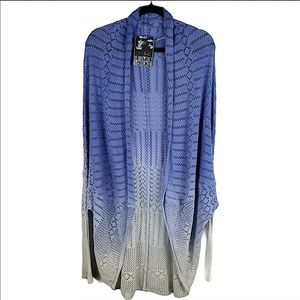 YFB Blue Ombré Knit Open Cardigan